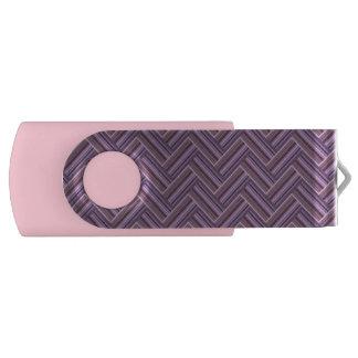 Mauve stripes double weave pattern USB flash drive