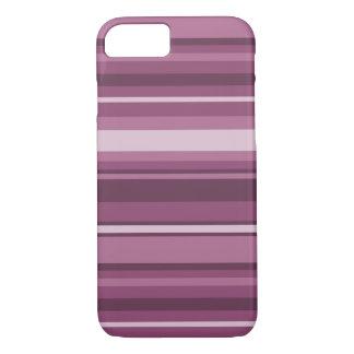 Mauve stripes iPhone 8/7 case