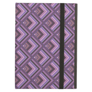 Mauve stripes scale pattern iPad air case