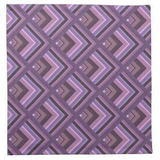Mauve stripes scale pattern napkin