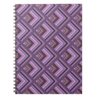 Mauve stripes scale pattern notebook