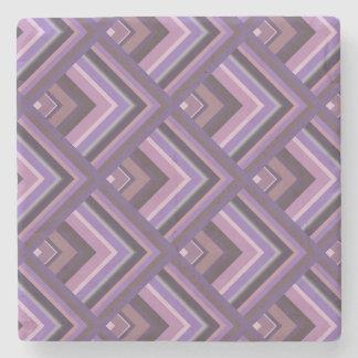 Mauve stripes scale pattern stone coaster