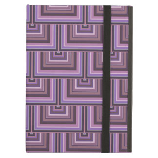 Mauve stripes square scales pattern iPad air case