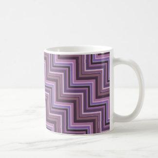 Mauve stripes stairs pattern coffee mug