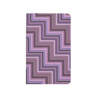 Mauve stripes stairs pattern journal