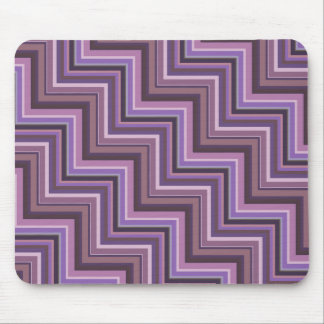 Mauve stripes stairs pattern mouse pad