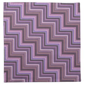 Mauve stripes stairs pattern napkin