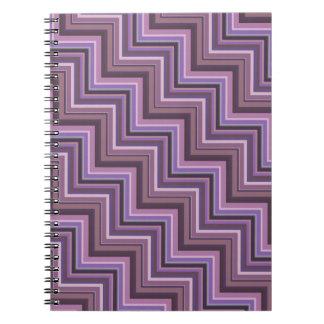 Mauve stripes stairs pattern notebooks