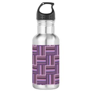 Mauve stripes weave pattern 532 ml water bottle