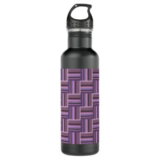 Mauve stripes weave pattern 710 ml water bottle