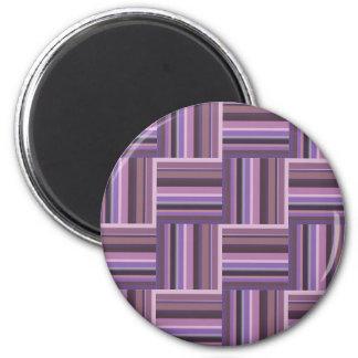 Mauve stripes weave pattern magnet