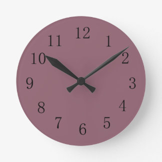 Mauve Taupe Red Kitchen Wall Clock
