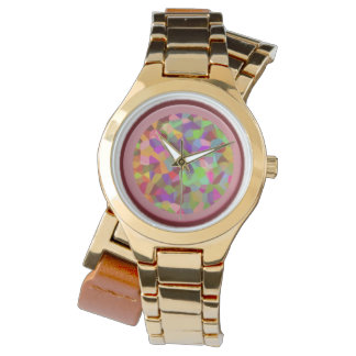 Mauve Tissue Paper Collage Watch