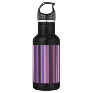 Mauve vertical stripes 532 ml water bottle