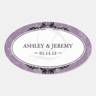 Mauve Wedding Favor Stickers