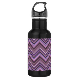 Mauve zigzag stripes 532 ml water bottle