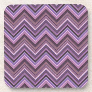 Mauve zigzag stripes coaster