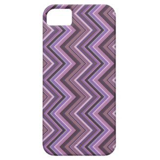 Mauve zigzag stripes iPhone 5 cover