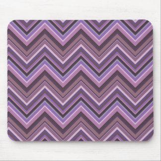 Mauve zigzag stripes mouse pad