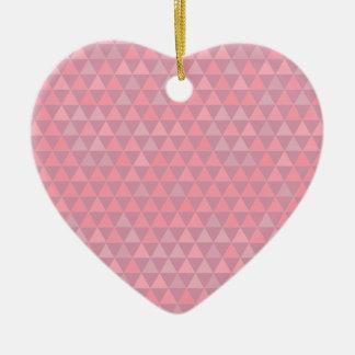 Mauvelous Pink Triangles Ceramic Ornament