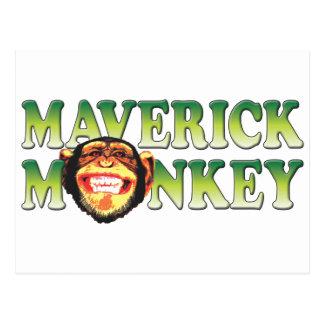Maverick Monkey Postcard