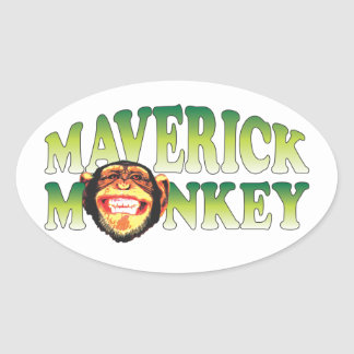 Maverick Monkey Sticker