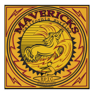 MAVERICKS CALIFORNIA SURFBREAK SURFING POSTER