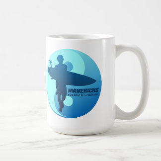 Mavericks -Half Moon Bay (Blue) Coffee Mug