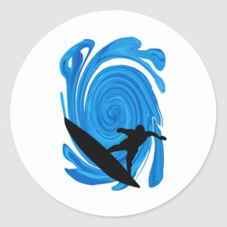 Mavericks Rising Classic Round Sticker