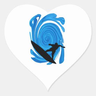 Mavericks Rising Heart Sticker