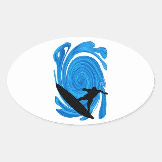 Mavericks Rising Oval Sticker
