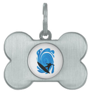 Mavericks Rising Pet Name Tag