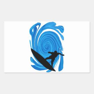 Mavericks Rising Rectangular Sticker