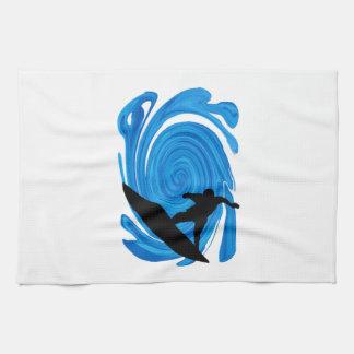 Mavericks Rising Tea Towel
