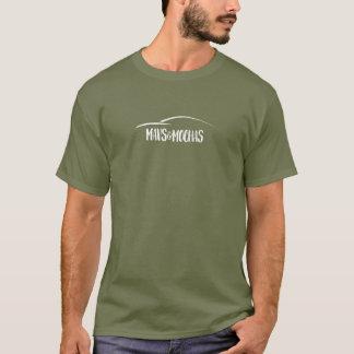 Mavs & Mochas dark centered one line text t-shirt