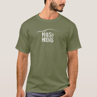 Mavs & Mochas dark centered text/cup logo t-shirt