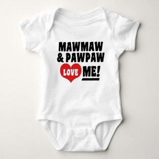 MawMaw And PawPaw Love Me Baby Bodysuit