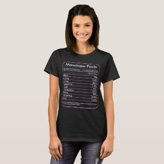 Mawmaw Facts Servings Per Container Tshirt