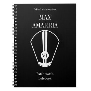 """""""max Amarria patch note's notebook"""" Notebook"""