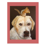 Max and Mr. Chipmunk postcard