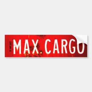 Max. Cargo Bumper Sticker