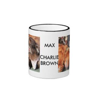 Max - Gold Retver Charlie Brwn - Aust Shep Photo-2 Ringer Mug