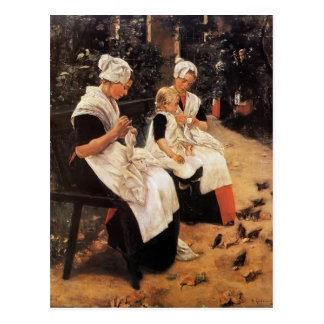 Max Liebermann- Amsterdam Orphans in the Garden Postcard