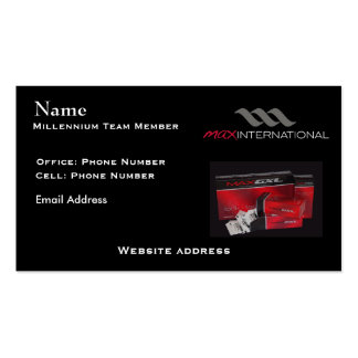 Max Millennium Team Pack Of Standard Business Cards