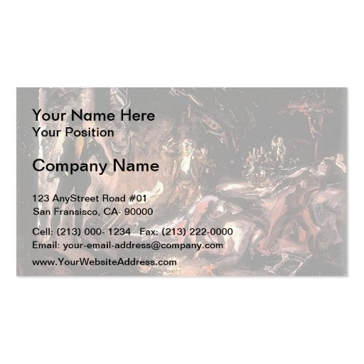 Max Slevogt- Don Juan's Encounter with Stony Gues Business Card