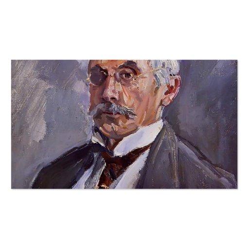 Max Slevogt- Portrait of Carl Steinbart Business Card Templates
