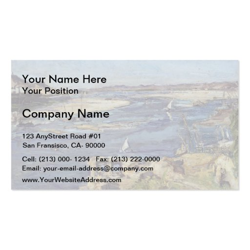 Max Slevogt- The Nile at Aswan Business Card Templates