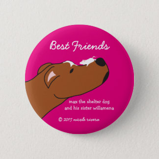 "Max & Willamena Best Friends 2 1/4"" Button"