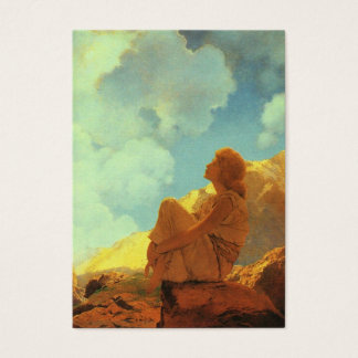 Maxfield Parrish Morning (Spring) Vintage Art Business Card