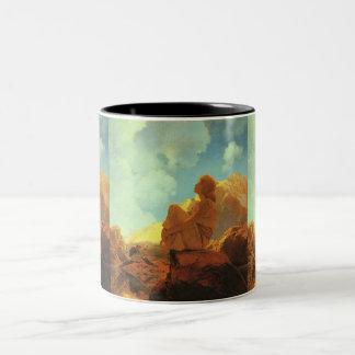Maxfield Parrish Morning (Spring) Vintage Art Two-Tone Coffee Mug